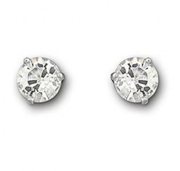Solitaire: Pierced Earrings