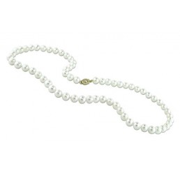 "18"" 6-7mm Fresh Water Round Pearl Necklace"