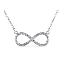 0.015 CT Diamond Fashion Necklace in Silver, 18""