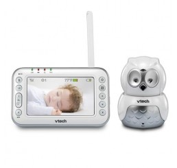 Vtech Owl Audio/Video Baby Monitor - White & Grey